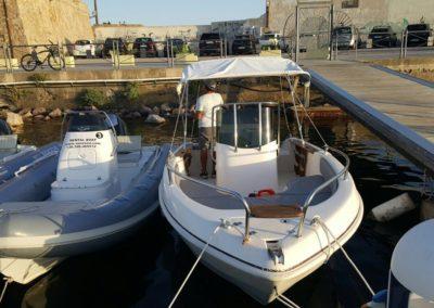 Noleggio gommoni e barca Manò Marine